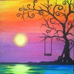 paint & sip at Fractured grape for May