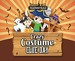 Irons Mill farmstead crazy costume clue day