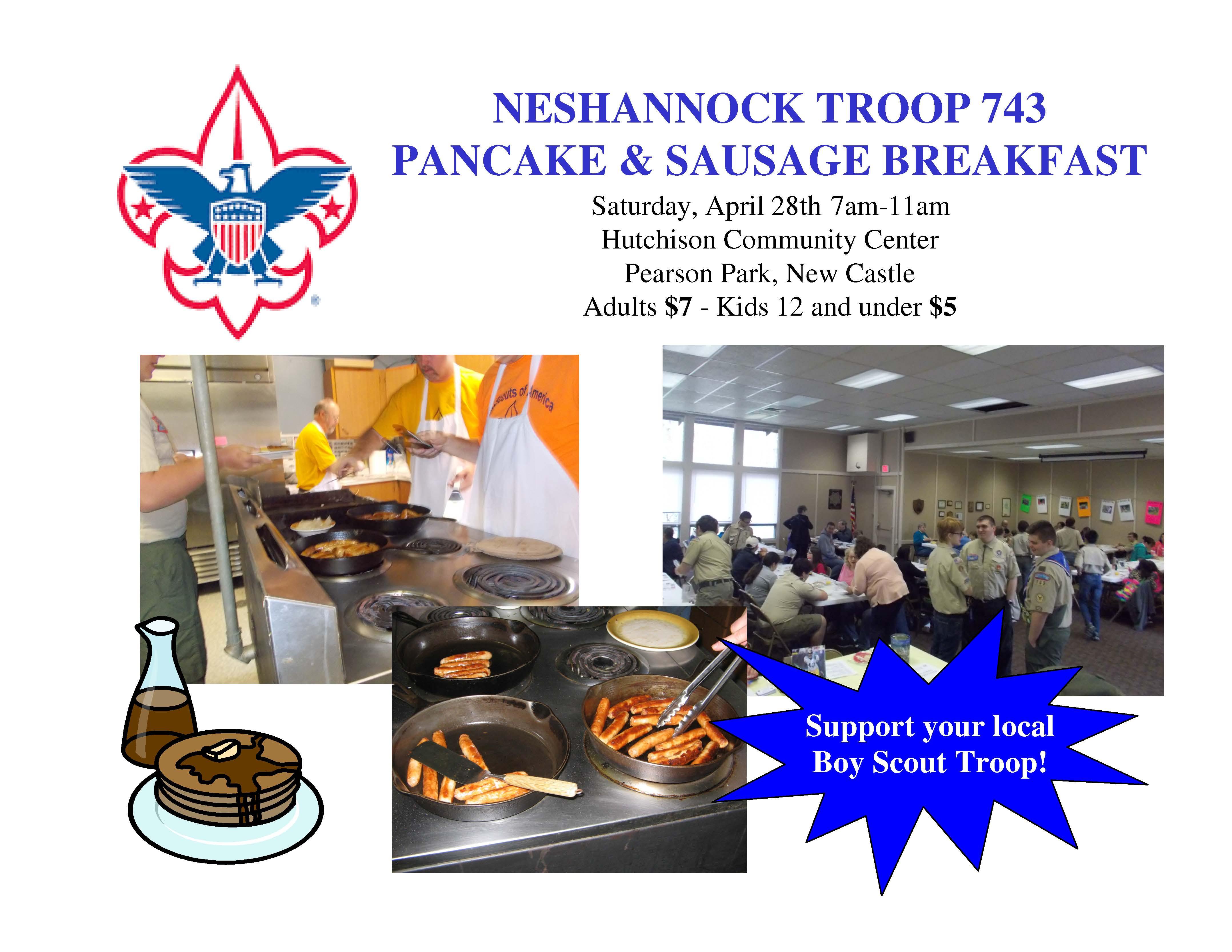 troop 743 pancake breakfast flyer visit lawrence county